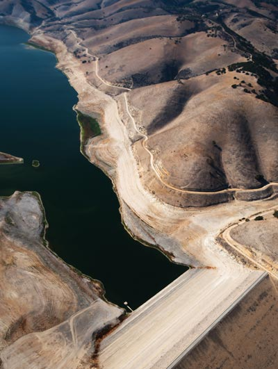 The water level has dropped drastically at Lake San Antonio, a reservoir in northern San Luis Obispo County.