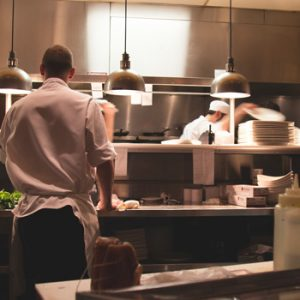 An upscale, highly-reviewed restaurant