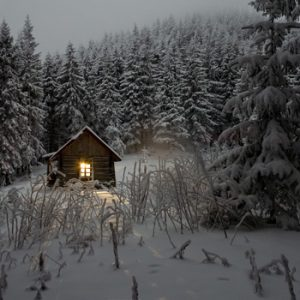 A secluded cabin