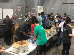 Students Sorting Katrina Donations