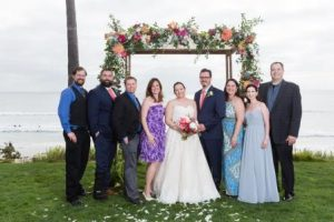 Stephanie Hall and John Krakowski wedding photo