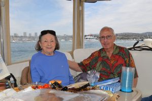 Alumnus Woody Lane and his wife on vacation