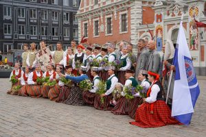 A cultural gathering in Lithuania
