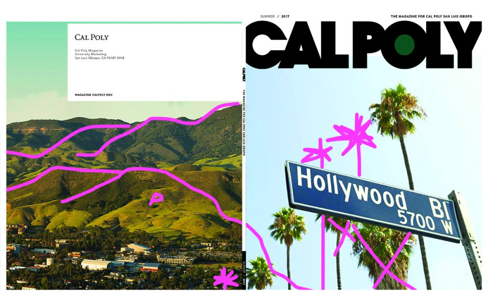 Cal Poly Magazine initital cover concept