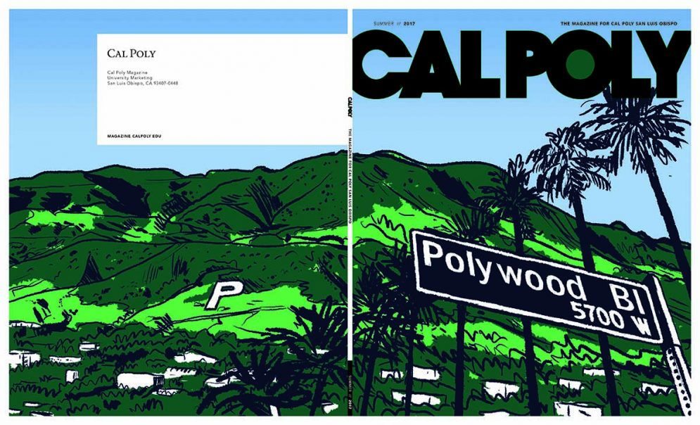 The Cal Poly Magazine cover initial illustration