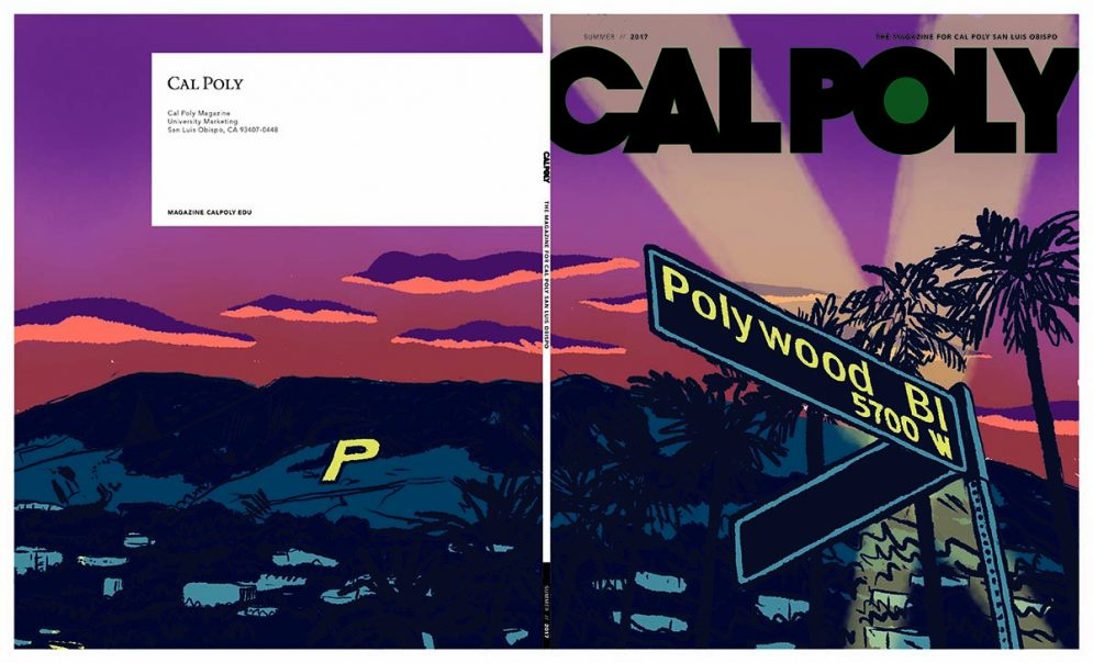 Cal Poly Magazine's third round cover concept by Jon Marchione