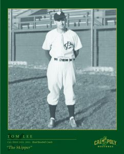 Tom Lee standing in a baseball field in uniform