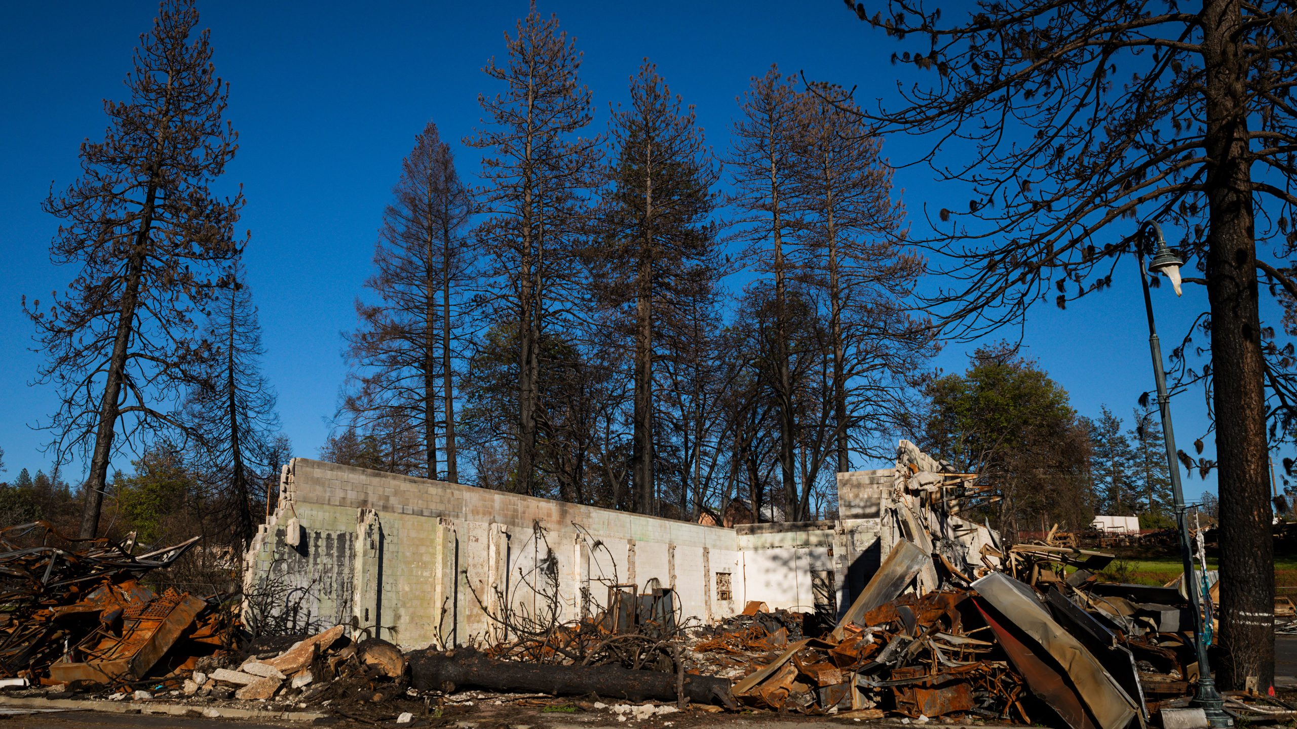 A destroyed structure in Paradise, CA. Photo by Joe Johnston.