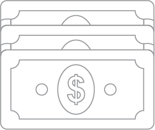An illustration of a dollar and dollar sign.