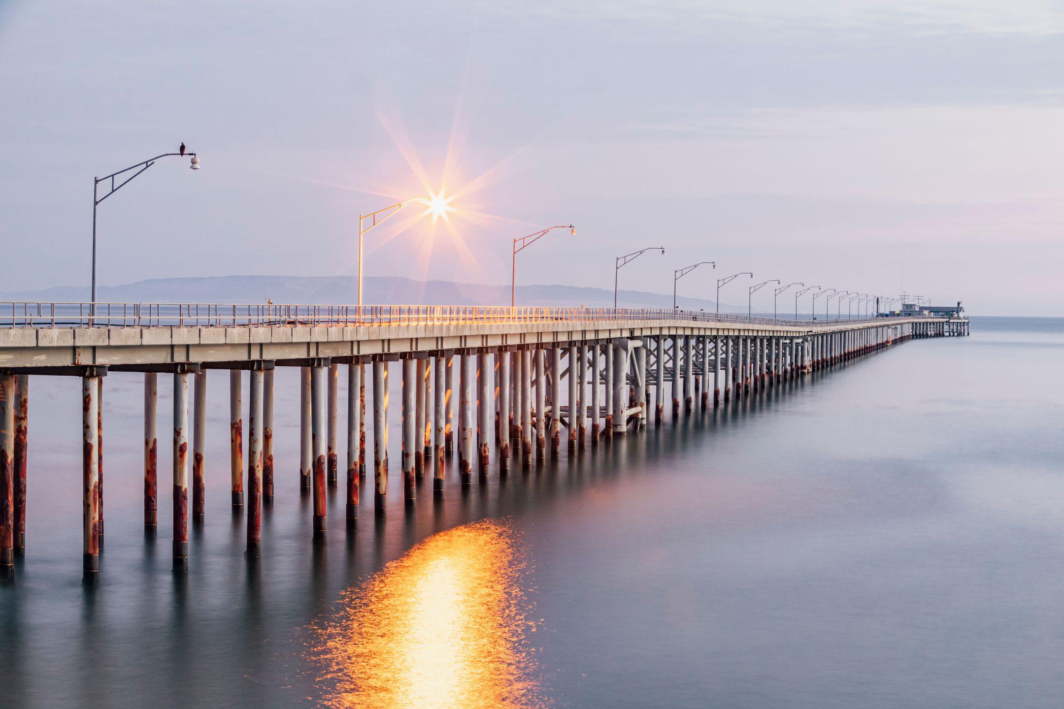 The Cal Poly pier in Avia Beach, CA.