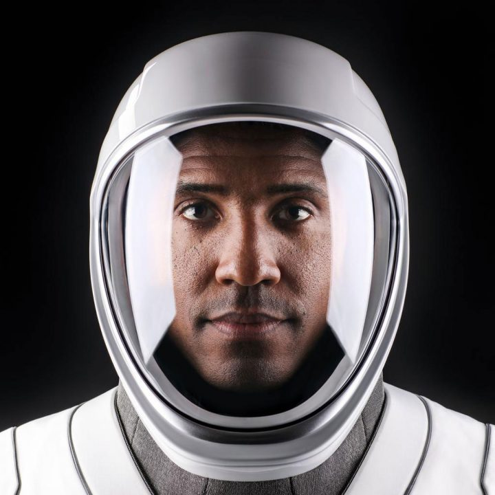 Astronaut Victor Glover in his SpaceX suit