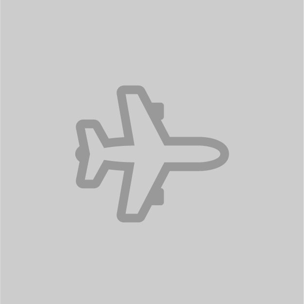 Grey icon of an airplane