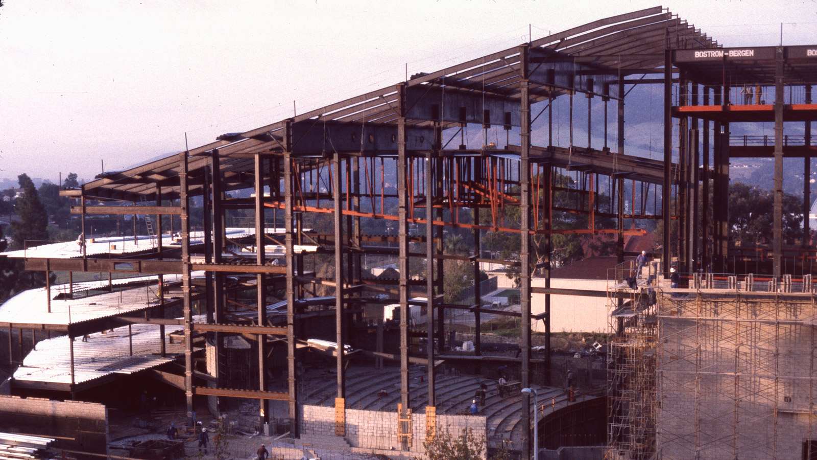 The Cal Poly performing arts center under construction in 1994