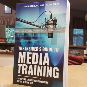 The cover of the book The Insider's Guide to Media Training: 99 tips to survive your interview in the digital age